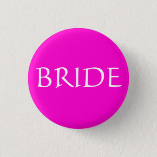 BRIDE ID Name Tag Special Event Bridal Show 3 Cm Round Badge