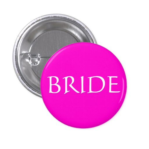 BRIDE ID Name Tag Special Event Bridal Show Pinback Buttons