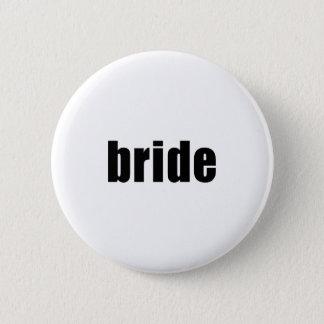 Bride in Black and White 6 Cm Round Badge