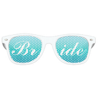 Bride in Script Sunglasses | Aqua Blue Shades