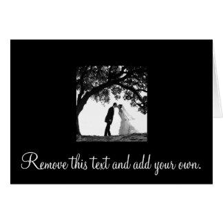 Bride Kiss under Oak Card -blank