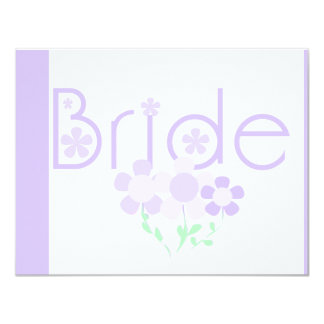Bride Lilac Flowers Tshirts and Gifts Invite