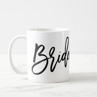 Bride Mug Plain White And Black