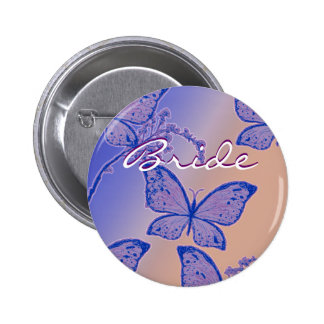 Bride name button - customizable wedding badges