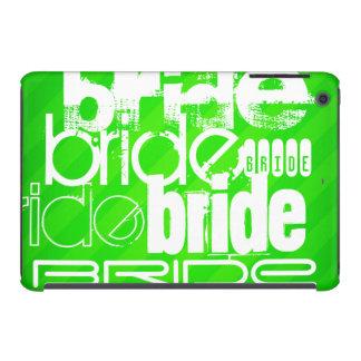 Bride; Neon Green Stripes iPad Mini Cases