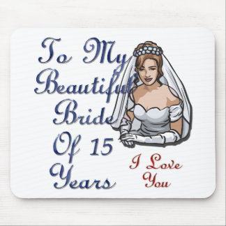 Bride Of 15 Years Mouse Pad