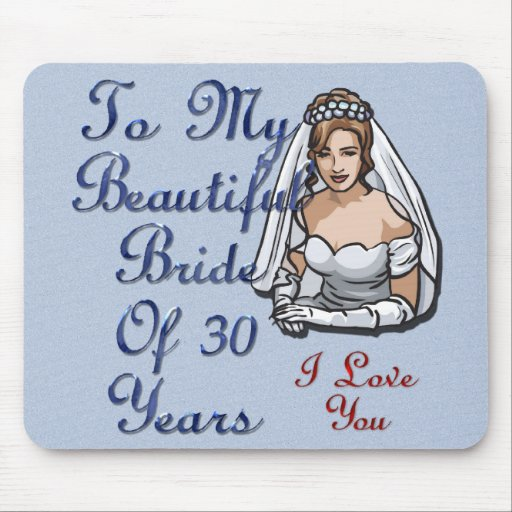 Bride Of 30 Years Mouse Pads