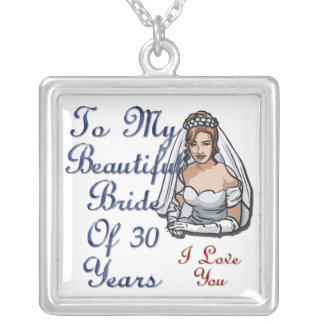 Bride Of 30 Years Silver Plated Necklace