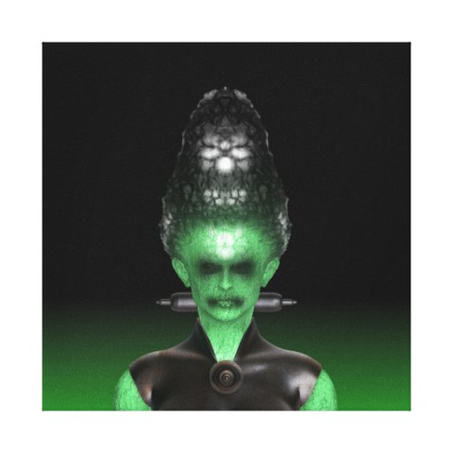Bride of Frankenstein - Halloween Canvas Prints