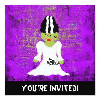 Bride Of Frankenstein Halloween Invitation