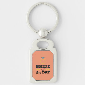 Bride of the Day Zqx9c Silver-Colored Rectangle Key Ring