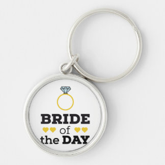 Bride of the Day Zqx9c Silver-Colored Round Key Ring