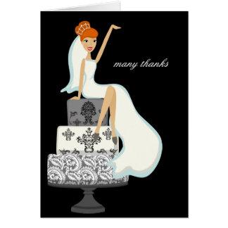 Bride On A Wedding Cake Thank You Notes