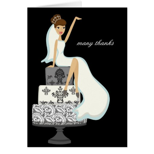 wedding cake thank you notes on a wedding cake thank you notes card zazzle au 26246