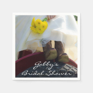 Bride on Tractor Country Farm Bridal Shower Paper Serviettes