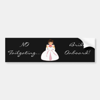 """""""Bride Onboard I"""" Bumper Sticker - Customizable Car Bumper Sticker"""