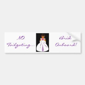 """""""Bride Onboard II"""" Bumper Sticker - Customizable Car Bumper Sticker"""