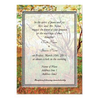 Bride parents' invitation, Orchard in Blossom 14 Cm X 19 Cm Invitation Card