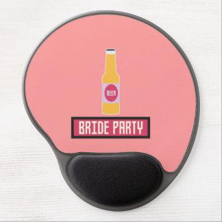 Bride Party Beer Bottle Z6542 Gel Mouse Pad