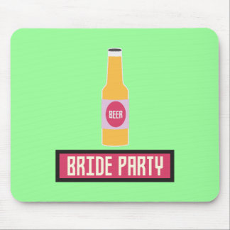 Bride Party Beer Bottle Z6542 Mouse Pad