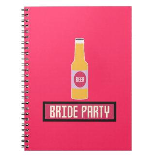 Bride Party Beer Bottle Z6542 Notebooks