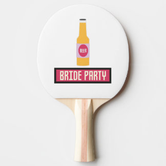 Bride Party Beer Bottle Z6542 Ping Pong Paddle