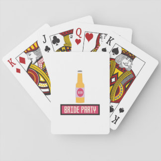 Bride Party Beer Bottle Z6542 Playing Cards
