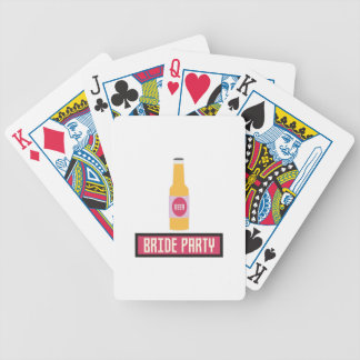 Bride Party Beer Bottle Z6542 Poker Deck