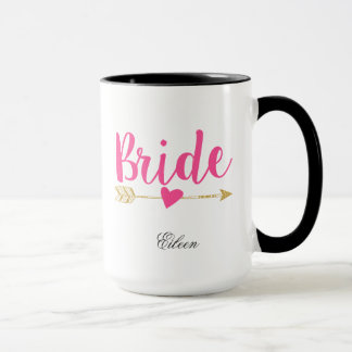 Bride Personalized Hot Pink Mug