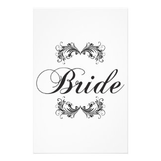 Bride Personalized Stationery