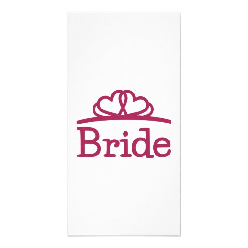 Bride Customized Photo Card