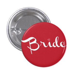 Bride Pin White On Red