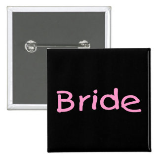 Bride (Pink) 15 Cm Square Badge