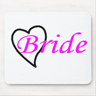 Bride Pink Black Heart Mouse Pad