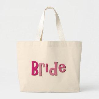 Bride Pink Brown Canvas Bags