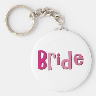 Bride Pink Brown Keychain