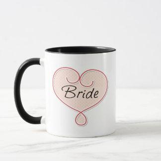Bride Pink Heart Mug