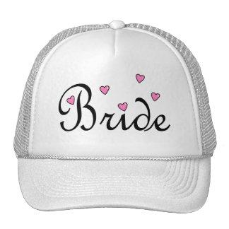 Bride Pink Hearts Hats