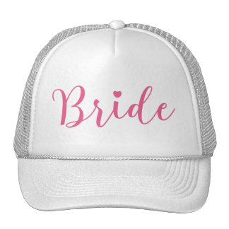 Bride Pink Script Simple & Elegant Cap