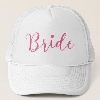 Bride Pink Script Simple & Elegant Trucker Hat