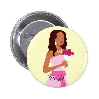 Bride Pink Wedding Gown Button