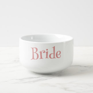 Bride Pretty Pink and White Soup Mug