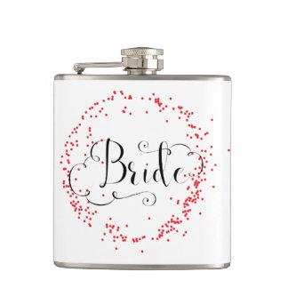 Bride Red Confetti - Flask
