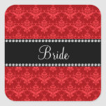 Bride red damask gifts