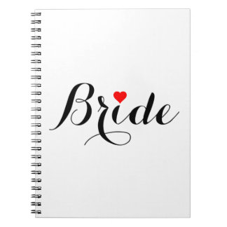 Bride Red Heart Notebook