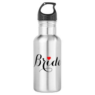 Bride Red Heart Water Bottle