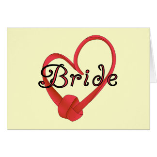 Bride Red Knot Heart Tshirts and Gifts Cards