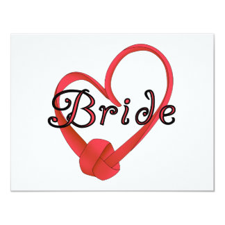 Bride Red Knot Heart Tshirts and Gifts Personalized Announcement
