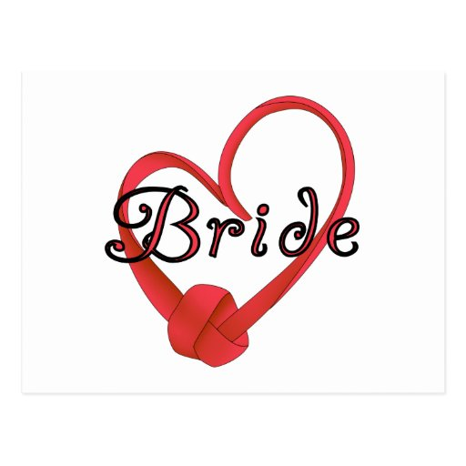 Bride Red Knot Heart Tshirts and Gifts Postcard