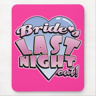 Bride s Last Night Out Bachelorette Party Mouse Pad